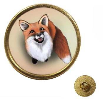 Little Fox - Gold Colour Metal Pin Badge