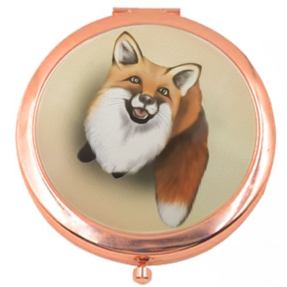 Little Fox Rose Colour Compact Mirror