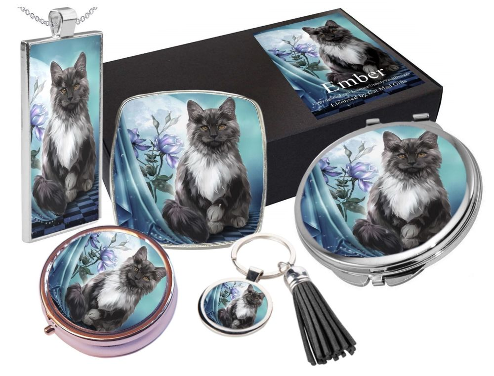 Black Cat, Moon & Rose - Ember - 5 Piece Gift Set Boxed