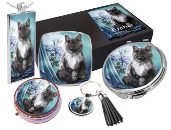 Black Cat, Moon & Rose - Ember - 5 Piece Gift Set Boxed WAS £19.99