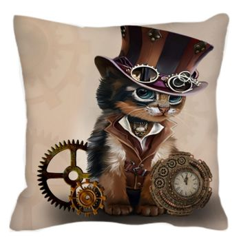 Steampunk Cat Cushion