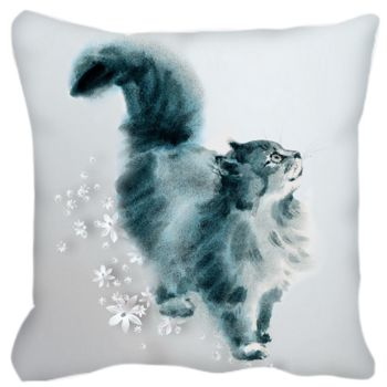 Watercolour Cat (Lovely) Cushion