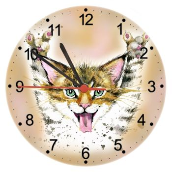 Crazy Cat - Cat Wall Clock