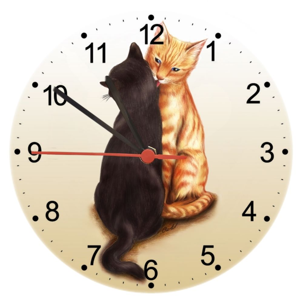 TLC - Tender Loving Cats - Cat Wall Clock