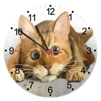 Lets Play - Cat Wall Clock