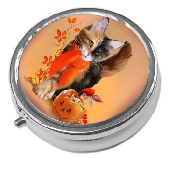 Pumpkin - Metal Pill Box