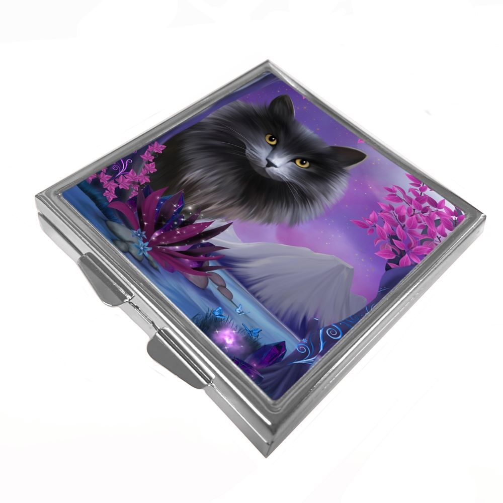Fantasy Cat Obsidion - Pill/Trinket Box