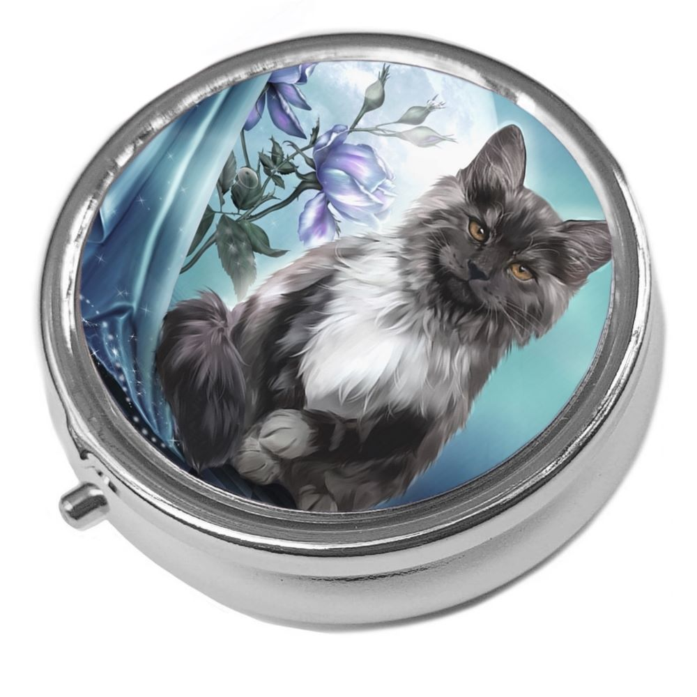 Fantasy Cat - Ember - Metal Pill Box
