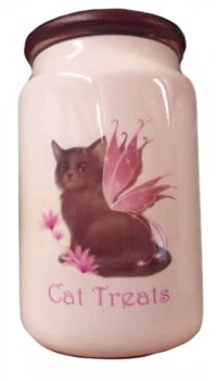 Fairy Cat (Tatiana) - Ceramic Cat Treat Jar