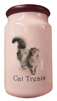 Love & A Cat - Ceramic Cat Treat Jar