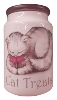 Petal - Ceramic Cat Treat Jar