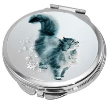 Love & A Cat Compact Mirror