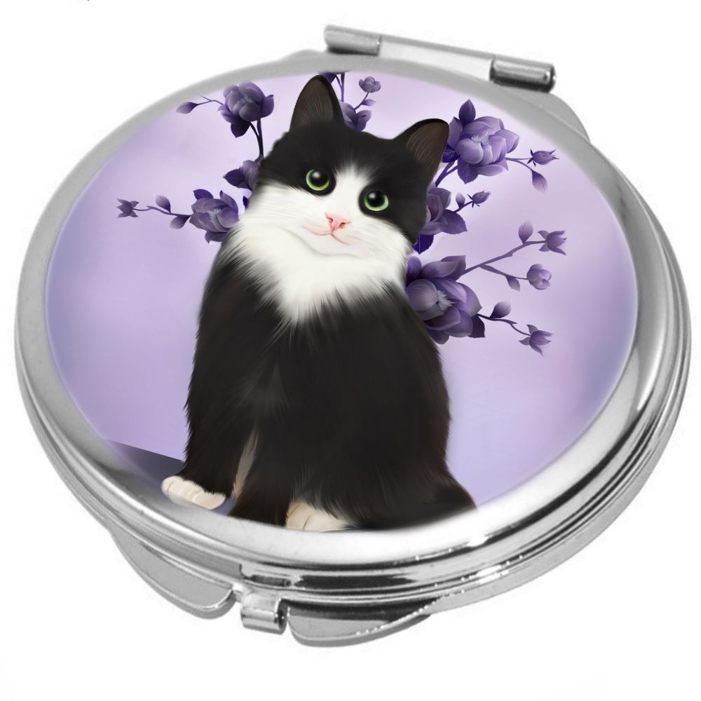 Lilac Cat Compact Mirror
