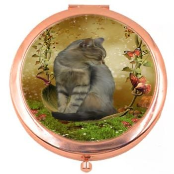 Autumn Enchantment Rose Colour Compact Mirror