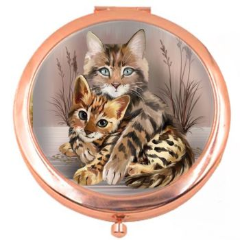 Best Friends Rose Colour Compact Mirror