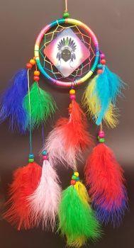 Black Cat Dreamcatcher - Rainbow