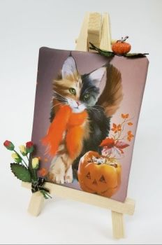 Mini Canvas & Easel - Pumpkin