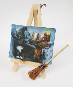 Mini Canvas & Easel - The Magician (Brown Broom)