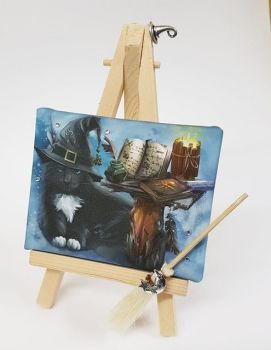 Mini Canvas & Easel - The Magician (Cream Broom)