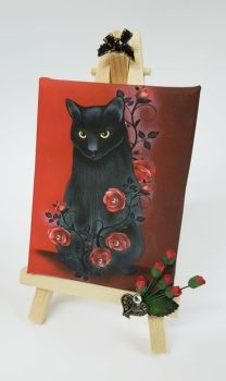 Mini Canvas & Easel - Ebony Rose