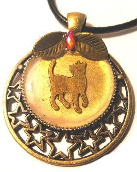 P188 - Bronze Effect Cat Walking