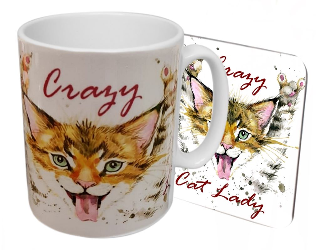 Crazy Cat Lady  - Boxed Mug & Coaster Set