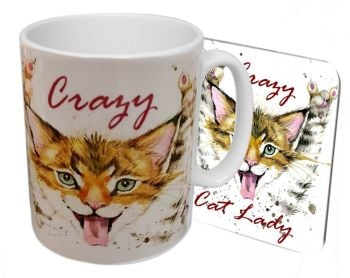 Crazy Cat Lady  - Boxed Mug & Coaster Set
