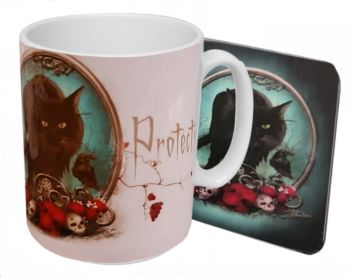 Familiar Protection  - Boxed Mug & Coaster Set