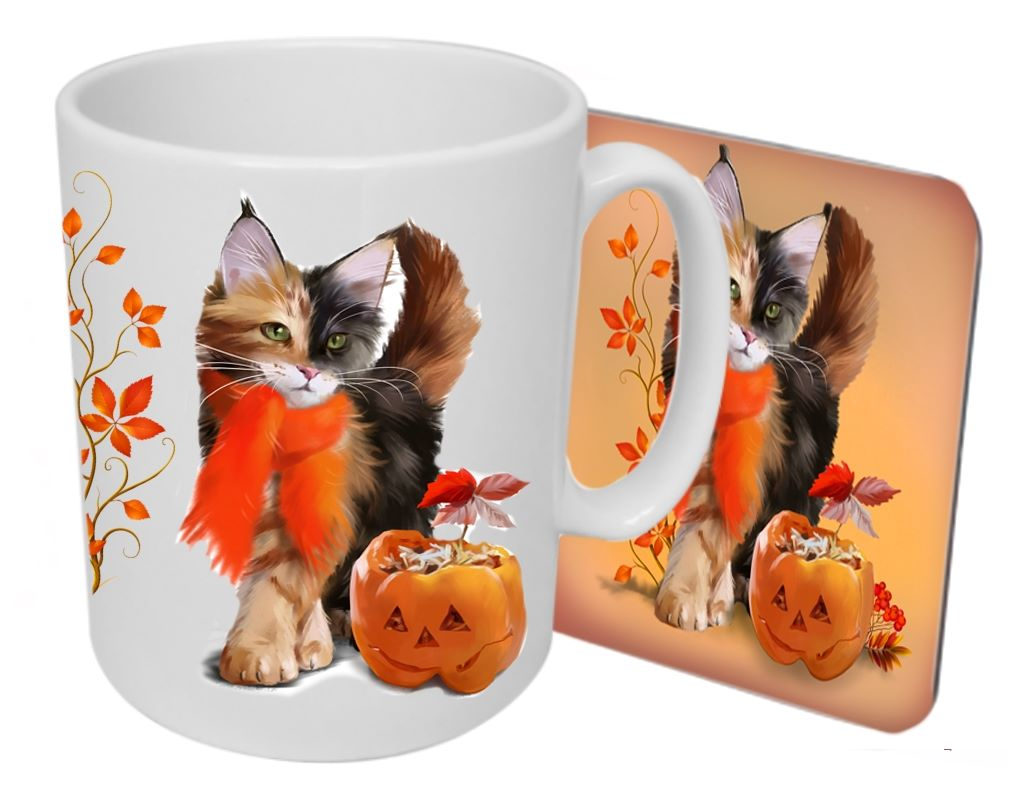 Pumpkin - Boxed Mug & Coaster Set