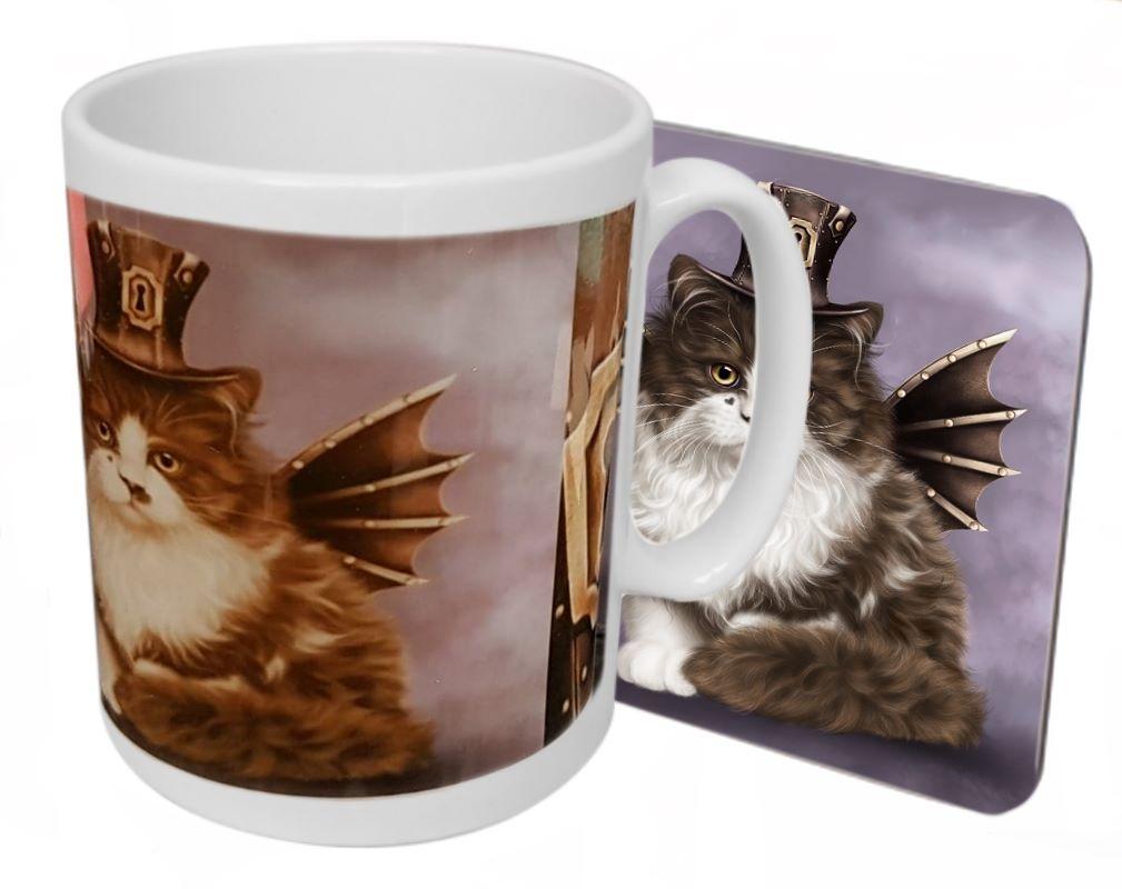 Steampunk Valentine - Boxed Mug & Coaster Set