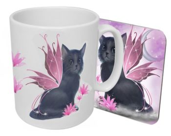 Tatiana - The Fairy Cat - Boxed Mug & Coaster Set