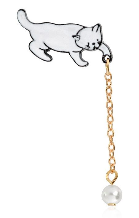 Cat & Pearl Ball On Chain - DUE SOON