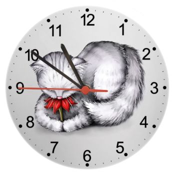 Petal - Cat Wall Clock