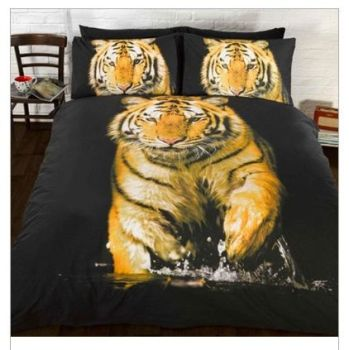 Tiger In The Wild Duvet Set - DOUBLE