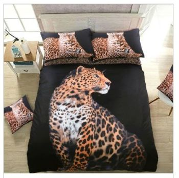 Black Leopard Duvet Set - DOUBLE  WAS £21.99