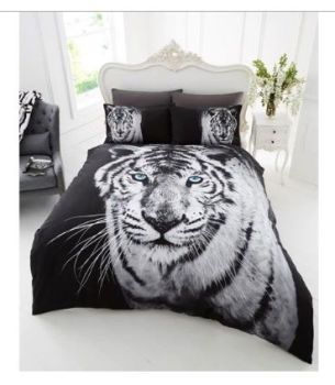 3D White Tiger Duvet Set - DOUBLE WAS £26.99