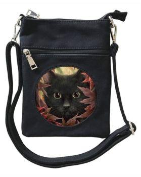 3D - Autumn Cat - Small Cross Body Bag