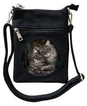 3D - Longing (Tabby Kittens) - Small Cross Body Bag
