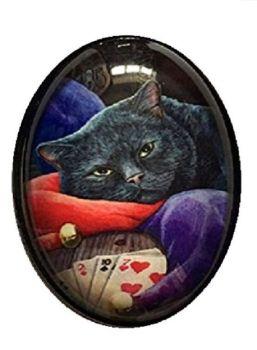 Lisa Parker Glass Cabochon Necklace - Jester
