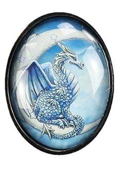 Lisa Parker Glass Cabochon Necklace - Wish Dragon