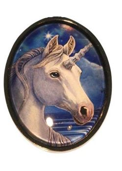 Lisa Parker Glass Cabochon Necklace -Sacred One