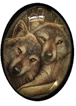 Lisa Parker Glass Cabochon Necklace - loyal companions