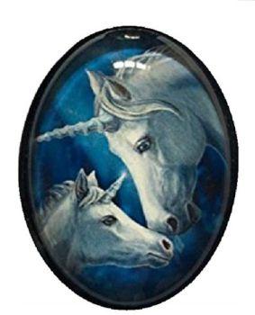 Lisa Parker Glass Cabochon Necklace - sacred love