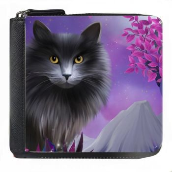 Fantasy Cat - Obsidion - Small Purse - Boxed