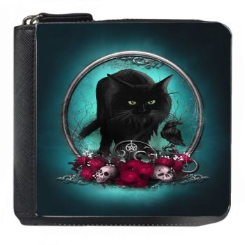 Familiar Protection Black Cat & Raven - Small Purse - Boxed