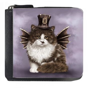 Steampunk Valentine Cat - Small Purse - Boxed