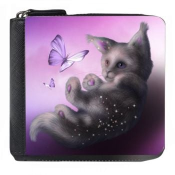 Fantasy Cat - Butterfly & Kitten - Small Purse - Boxed