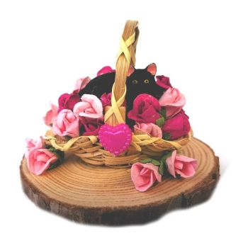 Little Cat Collectibles - I'm In The Rose Basket