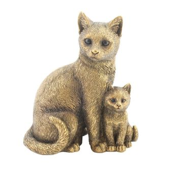 Leonardo Collection - Reflections - Bronzed Cat & Kitten WAS £16.99