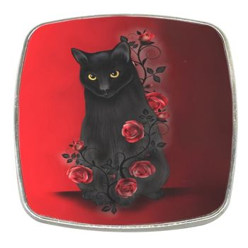 Ebony Rose - Chrome Finish Metal Magnet